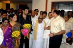 Chief Minister M. Karunanidhi at Sibiraj and Revathi Wedding Reception