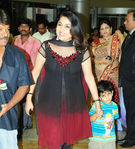 Ramya Krishnan with her son Ritwik and husband director Krishna Vamsi at sridevi wedding