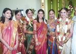 Sneha with Sangavi  at Sridevi and Rahul Wedding