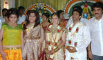 Khushboo and Sundar with daughter at Sridevi and Rahul Wedding