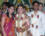 Sneha  at Sridevi and Rahul Wedding