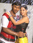 Shanthanu Bhagyaraj and Vedika with Ishita in Sakkarakatti Movie