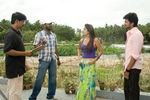 Nayanthara with Vijay and director Prabhu Deva at Villu Shooting Spot