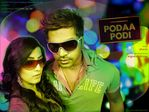 Simbu and Varalakshmi Sarathkumar PODAA PODI movie stills