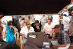 Simbu, Sana Khan, Director S Saravanan at Silambattam shooting spot