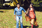 Sameera Reddy and Surya in Varnam Aayiram