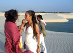 Superstar Rajinikanth and Aishwarya Rai at Endhiran Shooting Spot