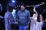 Shankar, Rajini and Aishwarya Rai at endhiran the robot on location
