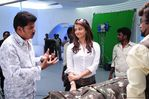 Shankar, Rajini and Aishwarya Rai at endhiran the robot shooting