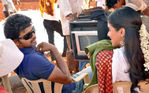Vijay and Asin Thottumkal at Kavalkaran On Location( shooting spot ) picture
