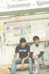 Vijay and Rajusundaram at Villu on the sets