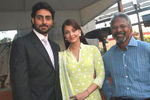 Director Mani Ratnam with Abhishek bachan and Aishwarya rai