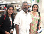Director Mani Ratnam with wife Suhasani