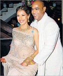 Cricketer Vinod Kambli and his model wife Andrea Hewitt