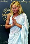 Tennis star Anna Kournikov in Saree