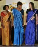 Tennis stars Sereena , Venus Williams, Serbian Jelena Jankovic in Saree