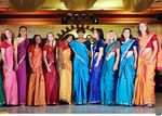 Tennis stars in in Saree