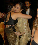 Aishwarya rai in sleeveless blouse with Rekha Picture