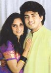 Actor Ajith with wife shalini