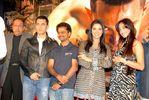 Aamir Khan, Director A.R. Murugadoss, Asin and Jiah Khan at the success party of the movie 'Ghajini'