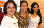 Mum Tanuja Kajol and sister Tanisha