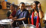Nayanthara satyam on location photo