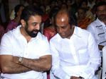 Kamal and Rajinikanth at Prabhu Daughter Aishwarya Wedding Reception