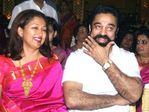 Actress Gouthami  with Kamal at Prabhu Daughter Aishwarya Wedding Reception