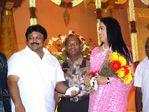 Actress Rekha at Prabhu Daughter Aishwarya Wedding Reception