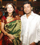 Jyothika and Surya at Actor Prabu son Vikram with Lakshmi Ujjaini Wedding
