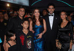 Shah Rukh Khan along with his wife Gauri Khan, son Aryan and daughter Suhana attended the premiere of Abhishek Bachchan's film Drona,