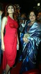 Shilpa Shetty and her mother at the unveiling of Force India Formula One