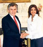 Shilpa Shetty meets the British PM Gordon Brown