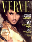 Shruti Haasan in VERVE magazine cover