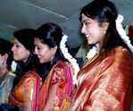 Sangavi with Sneha and Meena at Sridevi Marriage in Chennai
