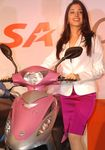 Tamanna at the launch of BSA eScooters in Chennai