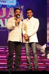 Kamal with Surya at Vijay Awards function