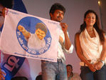 Vijay, Nayanthara - Vijay unveiled fan club flag