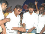 Vijay celebrated his 35th birthday by unveiling his fan club flag