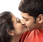 Amisha Patel kissed by Mahesh Baabu