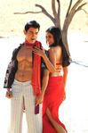 Asin and Aamir Khan in Ghajini Hindi Movie