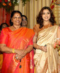 Actress Meena with her mother