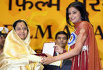 Priyamani received National best actress award for Paruthiveeran at 54th National Film Awards ceremony in New delhi