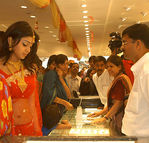Shriya at a jewellery Shop