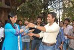 Actress Priyamani Birthday celebration on the sets of RaktaCharitra (5)