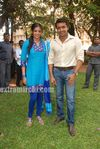 Surya at Actress Priyamani s Birthday celebration on the sets of RaktaCharitra (1)