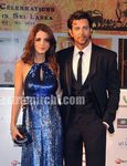 hrithik and wife suzanne at the IIFA Awards