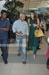 Aishwarya Rai and Director Maniratnam  Return to Mumbai - Ravan Promotions
