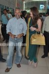 Aishwarya Rai and Director Maniratnam  Return to Mumbai - Ravan Promotions (1)