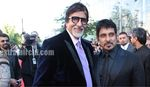 Vikram and Big Bachchan at Raavan premiere in London